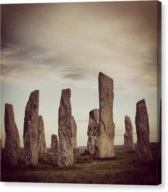 Geometric Canvas Print - Stone Circle by Luisa Azzolini