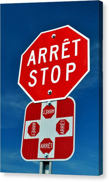 Stop Sign. Canvas Print by Fernando Barozza