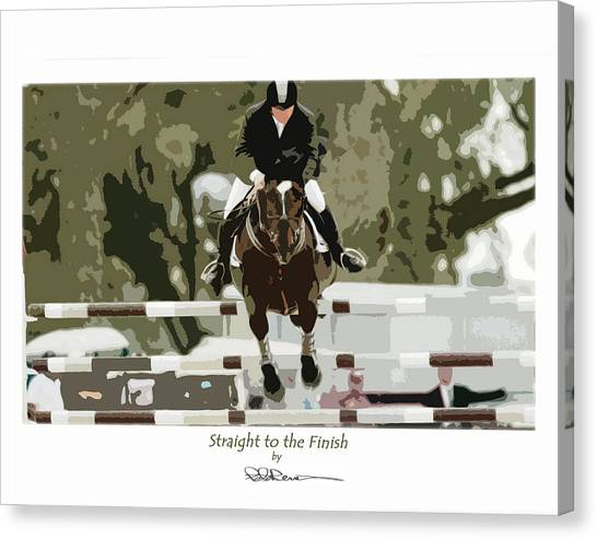 Straight To The Finish Canvas Print