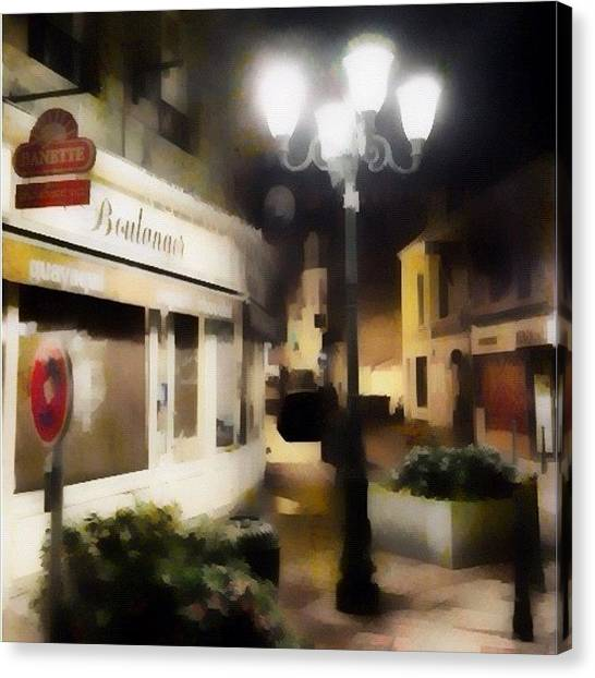 Bakeries Canvas Print - Street In France by Susan Libby