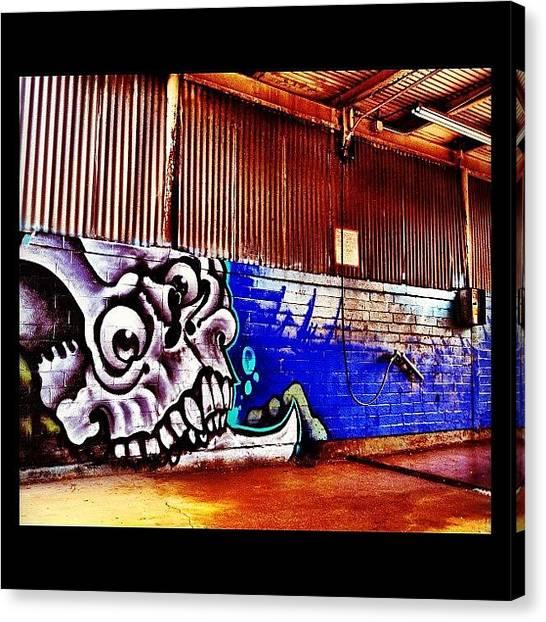 Skulls Canvas Print - #streetart #phxstreetart #arizona by CactusPete AZ