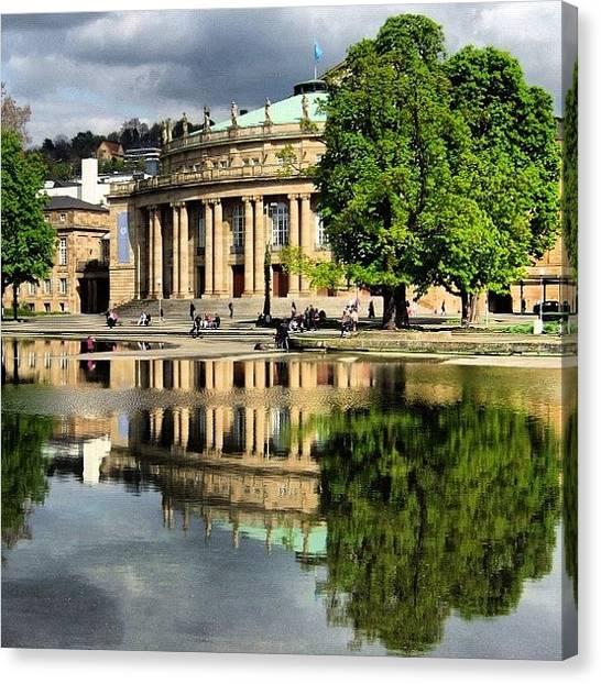 House Canvas Print - Stuttgart Staatstheater Staatsoper Opera Theatre Germany by Matthias Hauser