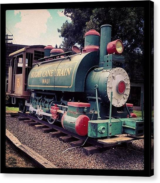 Green Canvas Print - Sugar Cane Train by Darice Machel McGuire