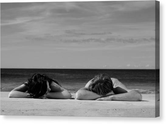 Sunbathers Canvas Print by Noel Elliot