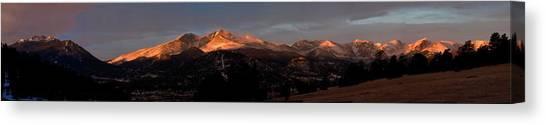 Sunrise On Long's Peak Canvas Print by G Wigler