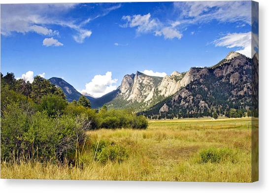 Sunset At Rocky Mountain Park Co. Canvas Print
