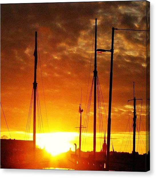 Swedish Canvas Print - #sunset In #stockholm #2005 by Gianluca Sommella