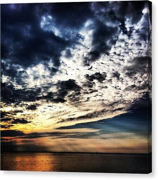 Beach Sunsets Canvas Print - #sunset #sun #nolimitliving #blue by Kaitlin Stanton