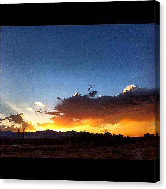 Color Contrast Canvas Print - #sunset #utah by Augie Stardust