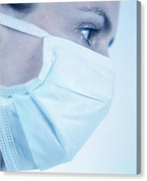 Surgical Mask Canvas Print by Cristina Pedrazzini