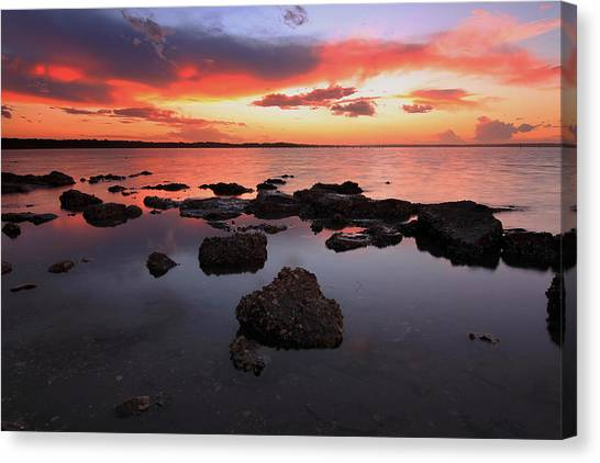 Swan Bay Sunset Canvas Print by Paul Svensen