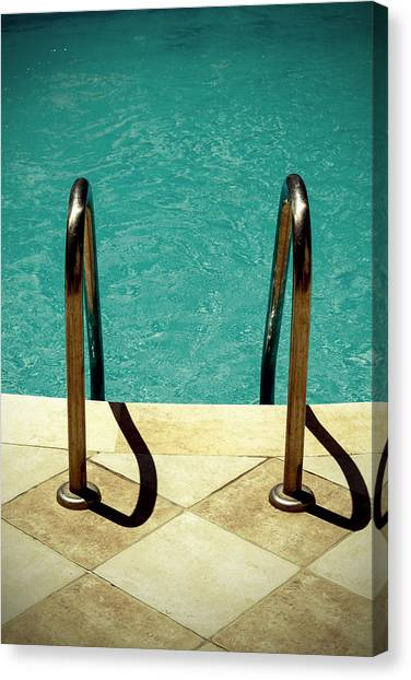 Summer Holiday Canvas Print - Swimming Pool by Joana Kruse