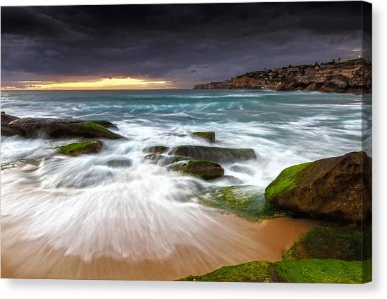 Swirls On The Rock Canvas Print