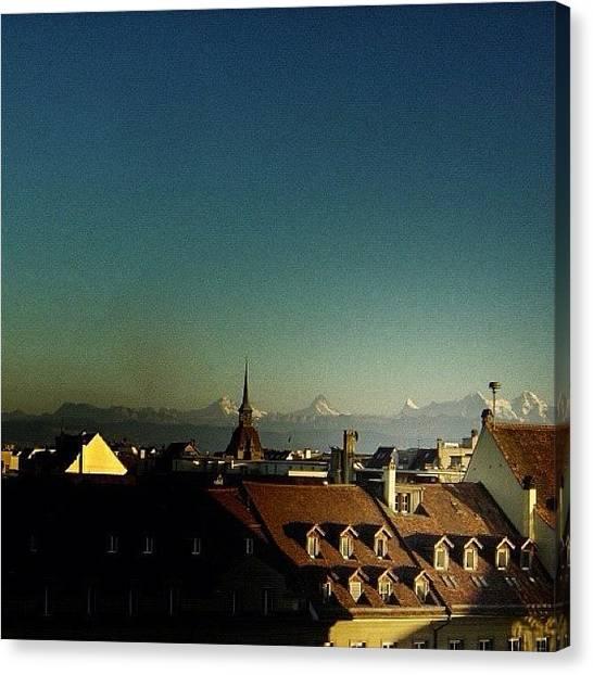 Snow Canvas Print - Swiss Alps - Bern Switzerland by Joel Lopez