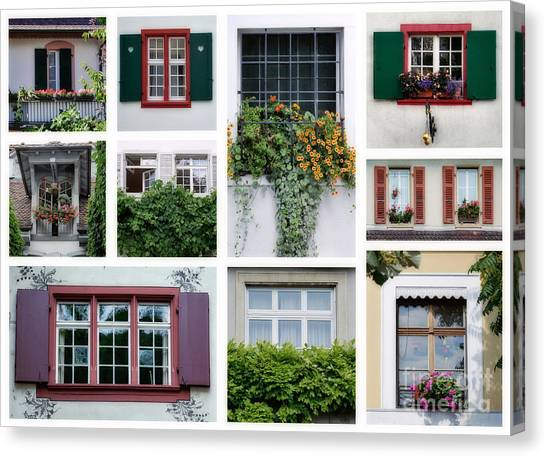 Swiss Windows Canvas Print