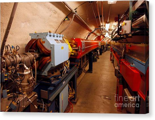 Cornell University Canvas Print - Synchrotron Alignment Magnet by Ted Kinsman