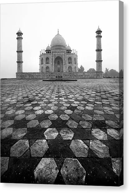 Fine Art India Canvas Print - Taj Mahal by Nina Papiorek