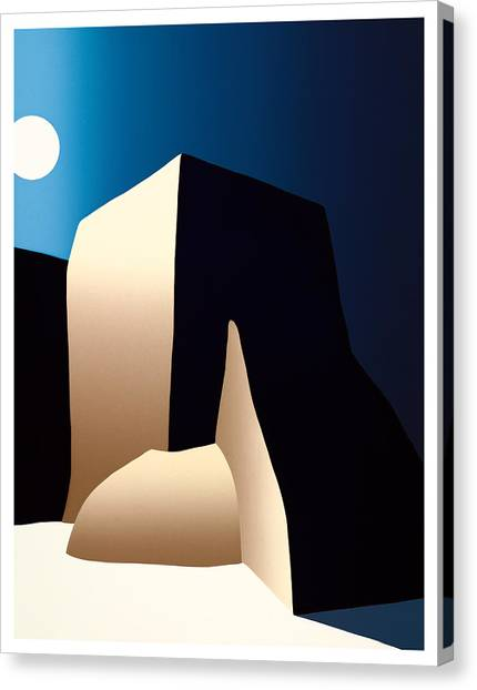 Taos Moon Canvas Print by Ed Wyatt