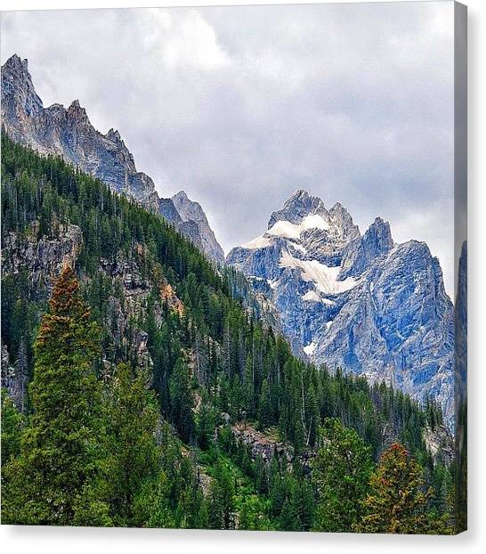 Tetons Canvas Print - Teewinot And Mount Owen From The by Chris Bechard