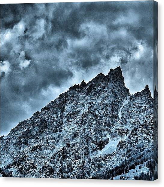 Tetons Canvas Print - Teewinot Mountain From Jenny Lake by Chris Bechard