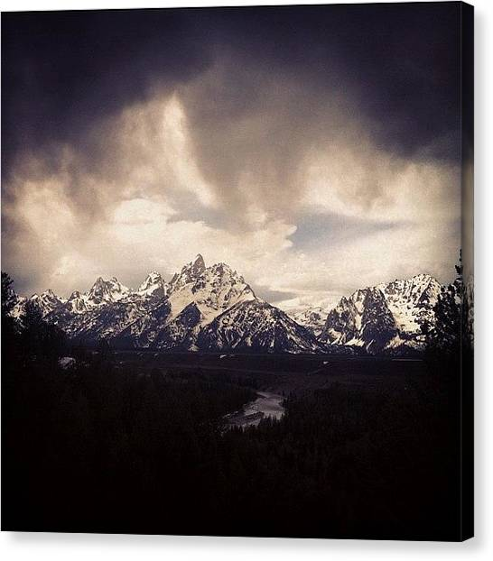 Tetons Canvas Print - #tetons #mountains by Niels Rasmussen