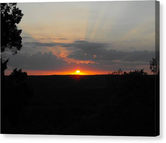 Texas Sunset Canvas Print by Rebecca Cearley