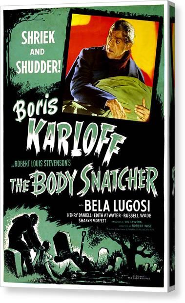 1945 Movies Canvas Print - The Body Snatcher, Boris Karloff, 1945 by Everett