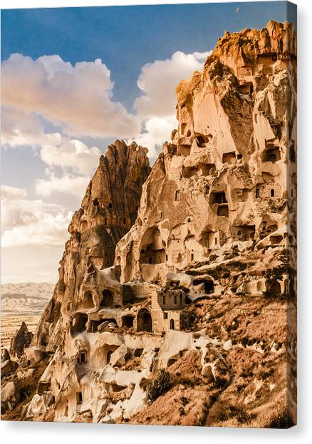 Canvas Print featuring the photograph Uchisar - The Castle by Mark Forte