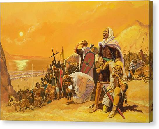 Harsh Conditions Canvas Print - The Crusades by Gerry Embleton