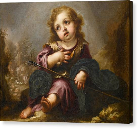Holy Bible Canvas Print - The Good Shepherd by Juan de Valdes Leal