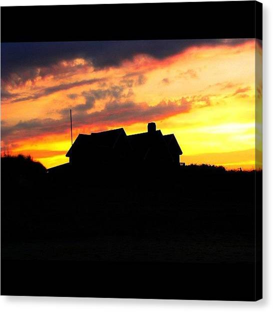 Beach Sunsets Canvas Print - The Heavens Declare The Glory Of God by Drew R