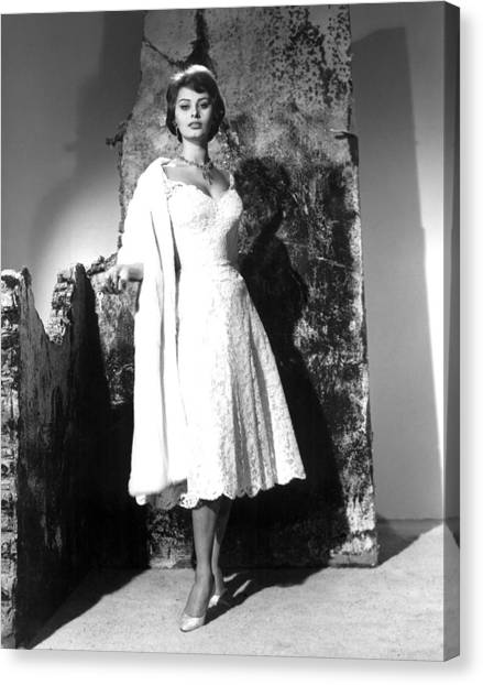 The Key, Sophia Loren, 1958 Canvas Print by Everett