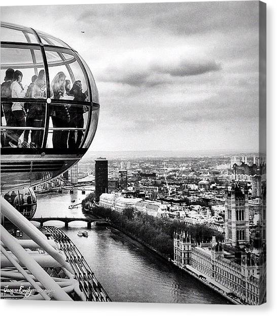 London Eye Canvas Print - The London Eye by Jane Emily