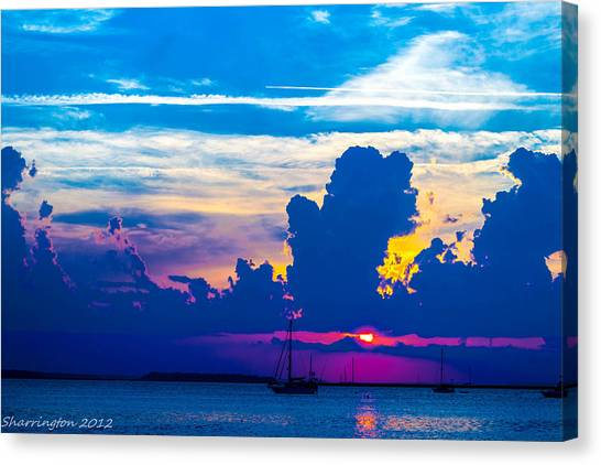 The Purple Sunset Canvas Print