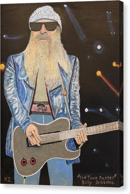 The Tone Master.billy Gibbons. Canvas Print