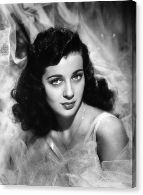 1945 Movies Canvas Print - The Unseen, Gail Russell, 1945 by Everett