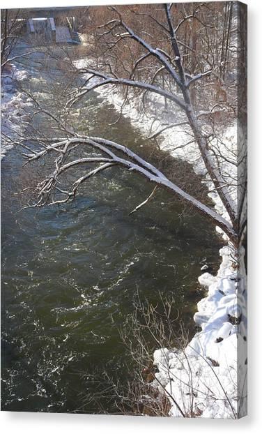 Thornbury Frozen Fish Lock Canvas Print by Cyryn Fyrcyd
