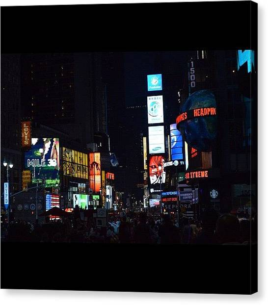 Lucky Canvas Print - Times Square by Lucas Rocha