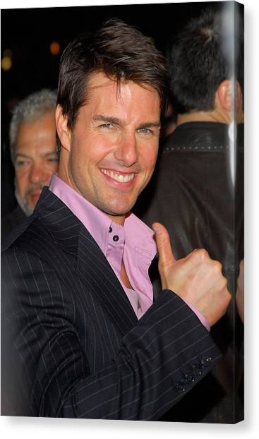 Tom Cruise At Arrivals For Mission Canvas Print by Everett
