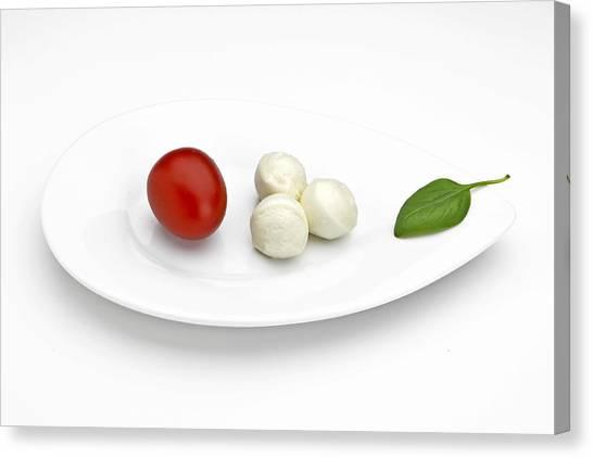 Lettuce Canvas Print - Tomato Mozzarella by Joana Kruse