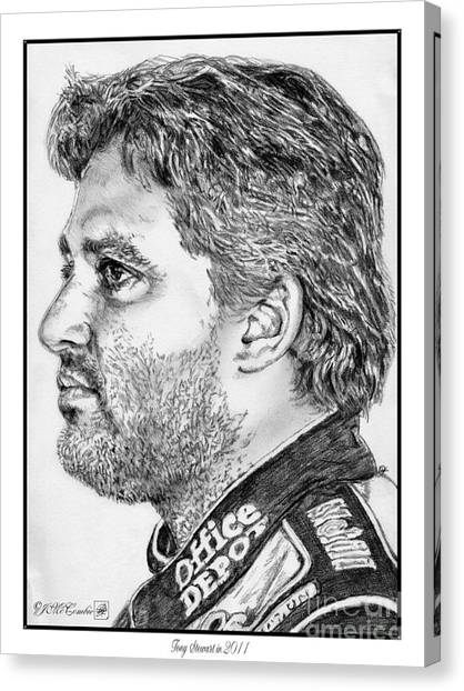 Stewart-haas Racing Canvas Print - Tony Stewart In 2011 by J McCombie