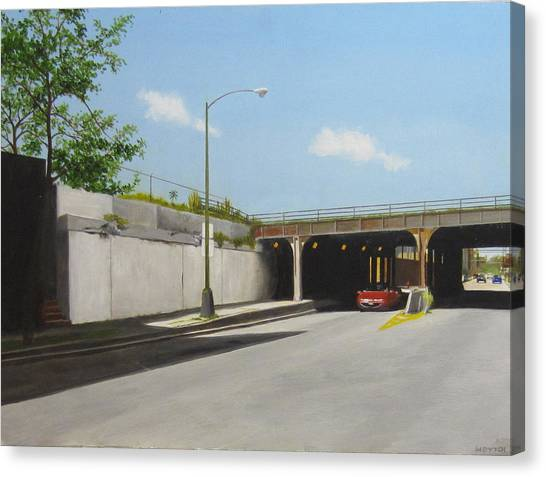 Traffic On Damen Canvas Print by Meredith Dytch