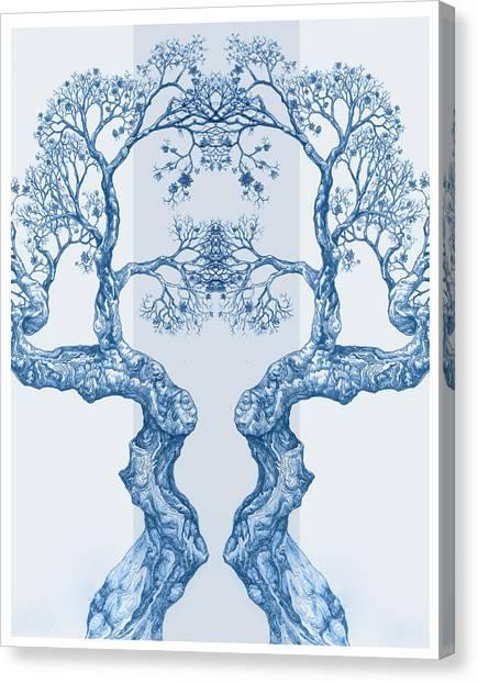 Tree 14 Blue 6 Canvas Print