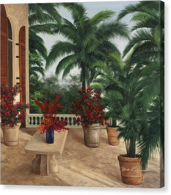 Tuscan Patio Canvas Print