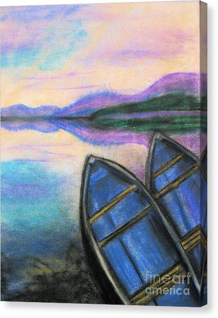 Twilight At Rest Canvas Print by Judy Via-Wolff