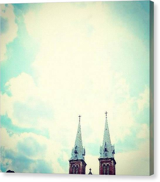 Vietnamese Canvas Print - Twins, Bell Towers by Zachary Voo