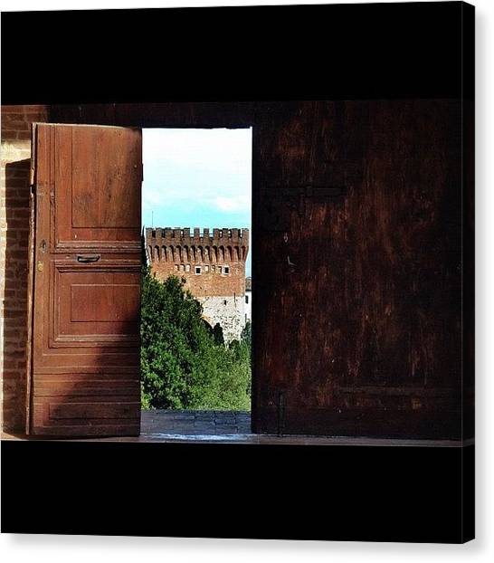 Medieval Canvas Print - #umbria #medieval #architecture by Luca Sabatini