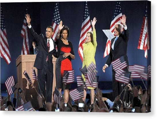 Joe Biden Canvas Print - U.s. President Elect Senator Barack by Everett
