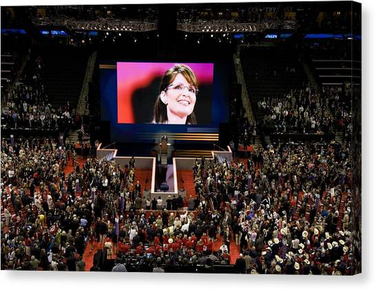 Sarah Palin Canvas Print - Vice Presidential Candidate Sarah Palin by Everett