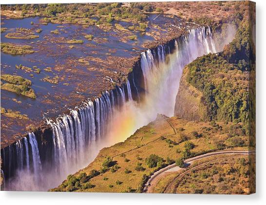 Victoria Falls Canvas Print - Victoria Falls by Rob Verhoeven & Alessandra Magni